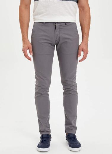 DeFacto Slim Fit Basic Chino Pantolon Gri